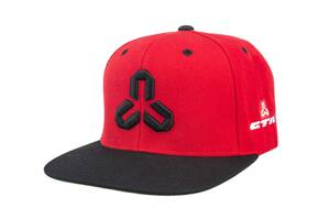 Šiltovka Snapback red/black