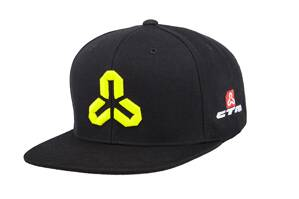 Šiltovka CTM Snapback allover black/neon green