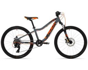 "Rock Machine Bicykel STORM 24 MD veľ.: 12""(XS), SLATE GREY/NEON ORANGE/BLACK"