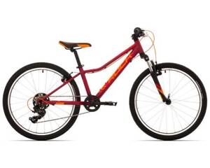 "Rock Machine Bicykel CATHERINE 24 VB veľ.: 12"" (XS), DARK CRIMSON/CRIMSON/NEON ORANGE"